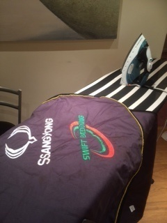 Yes we even iron the rugs for Badminton!