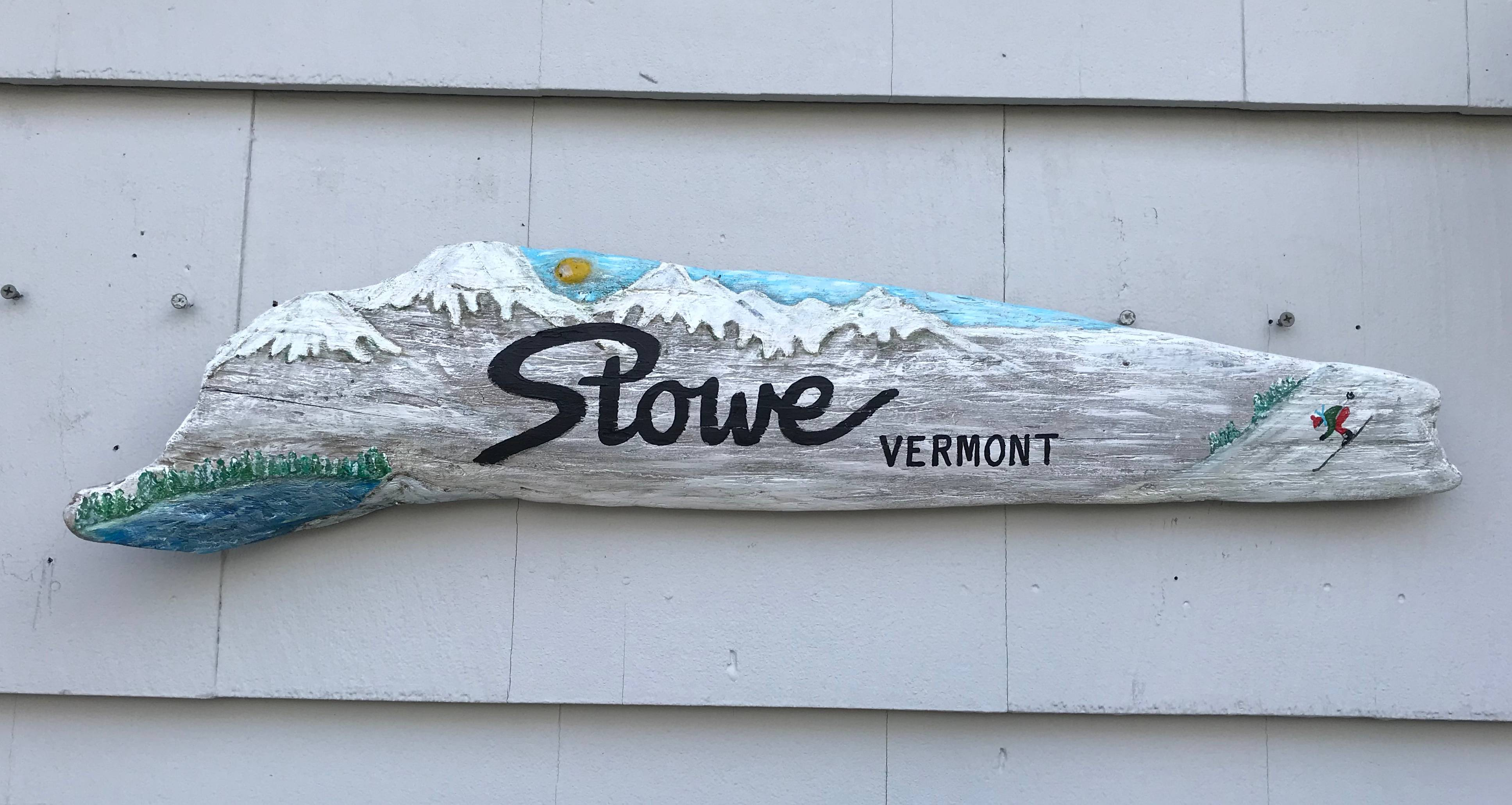 Stowe, VT sign