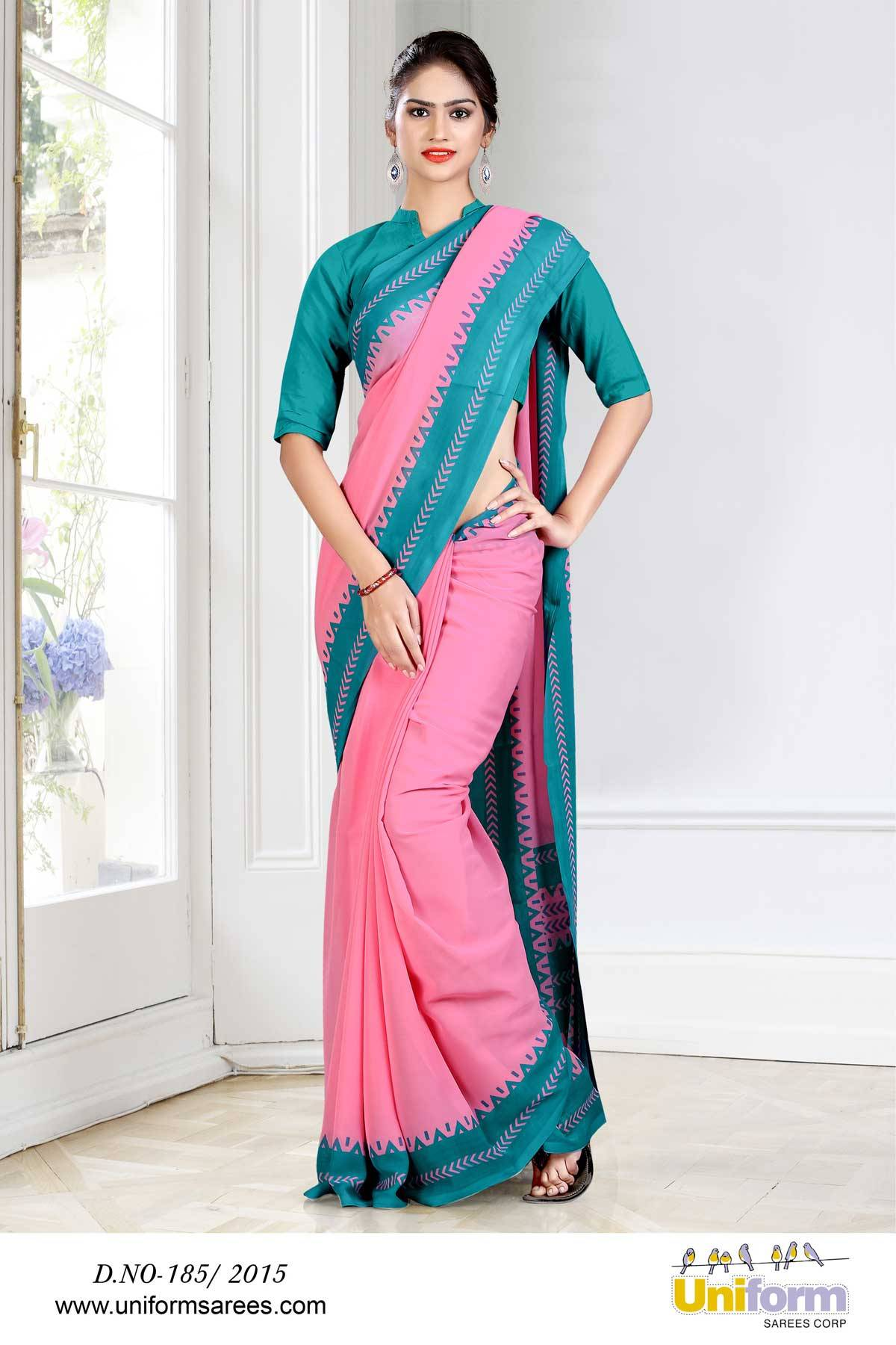 Uniform Sarees For Hospital Staff | Uniform Design No 185/2015