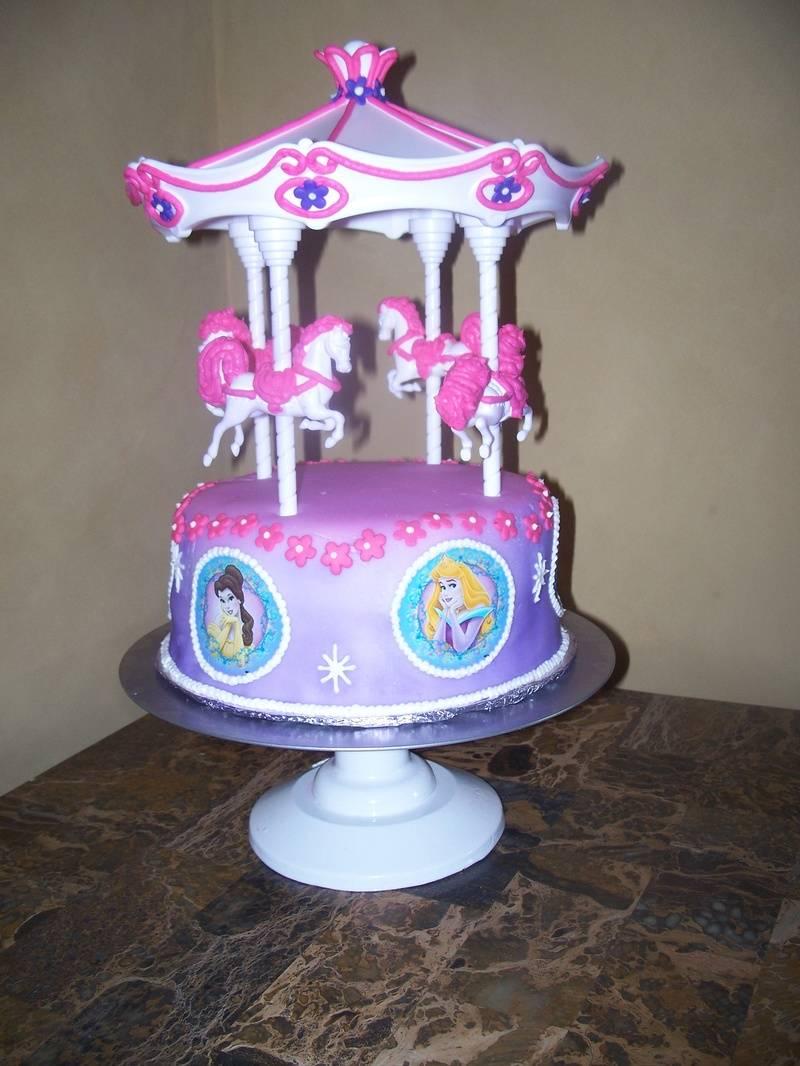 Disney Princess Carousel Cake