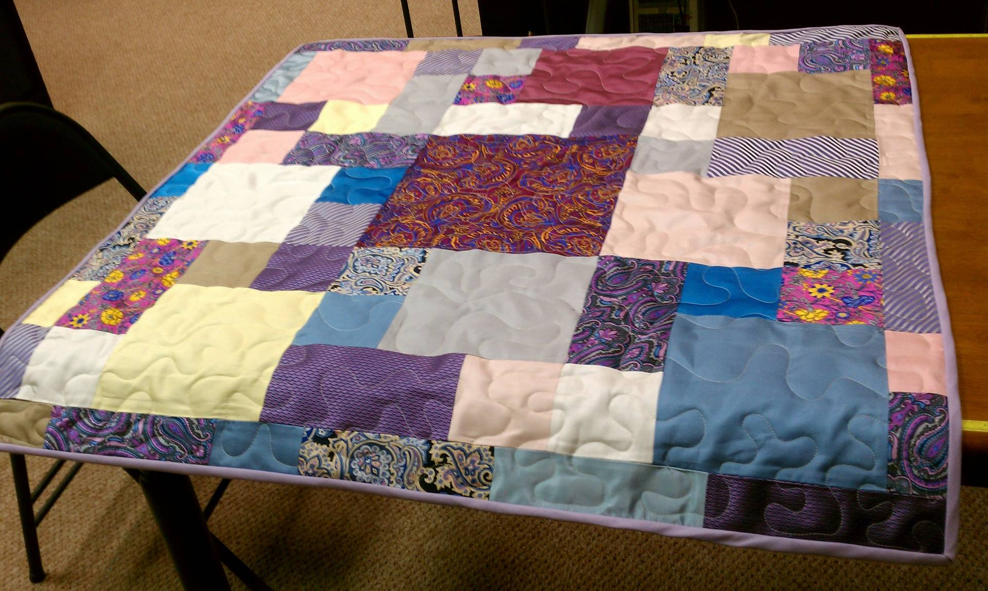 This quilt is made out of ties!