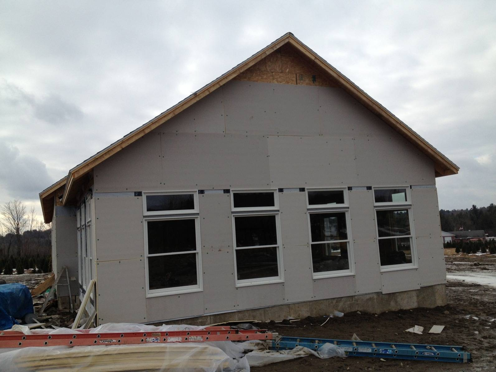 Side Elevation During Construction