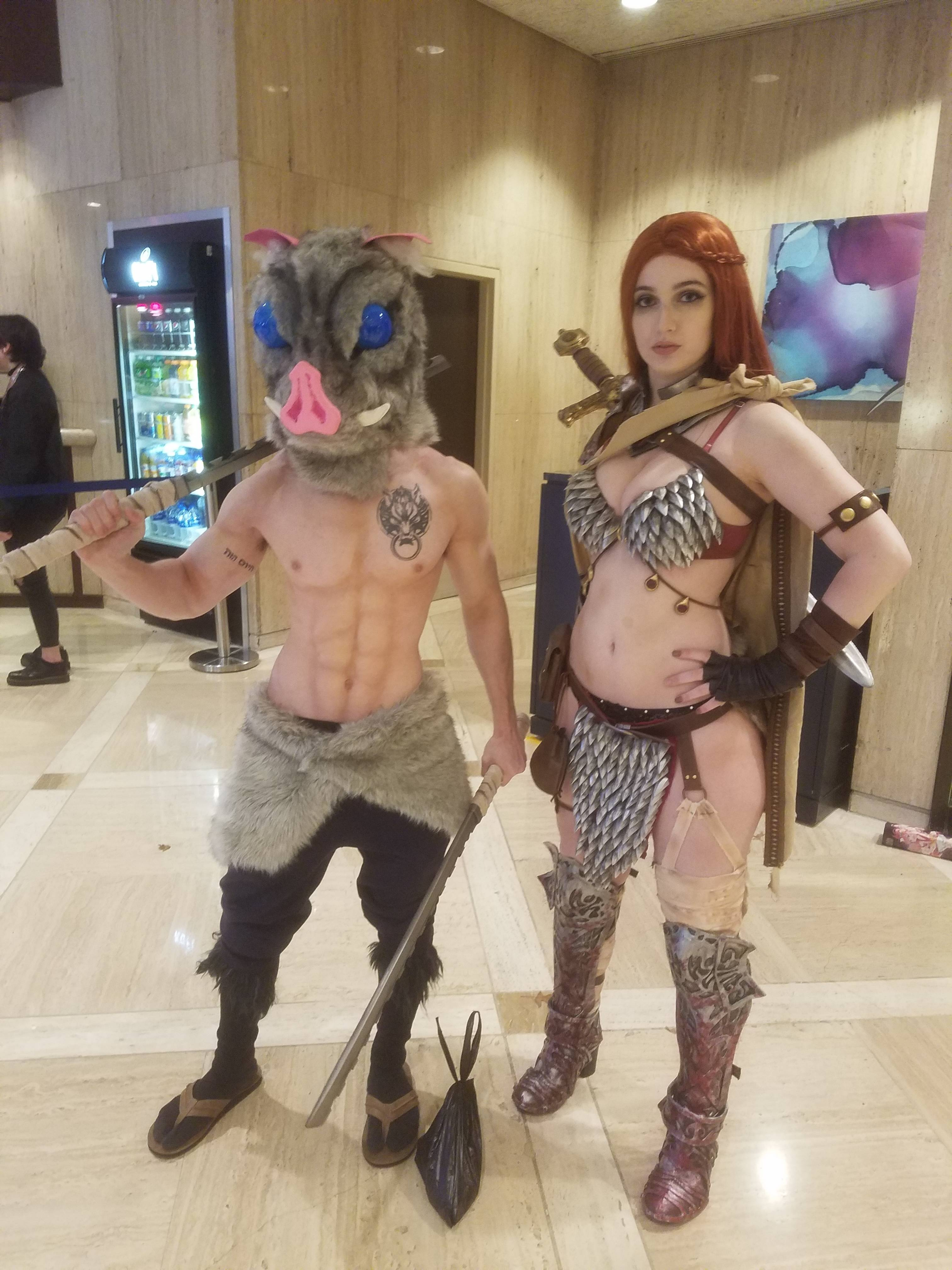 Unknown and Red Sonja