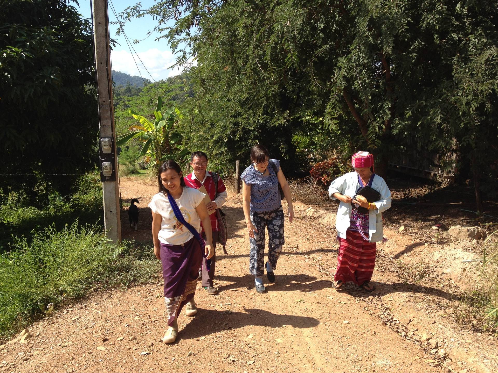Working in the village