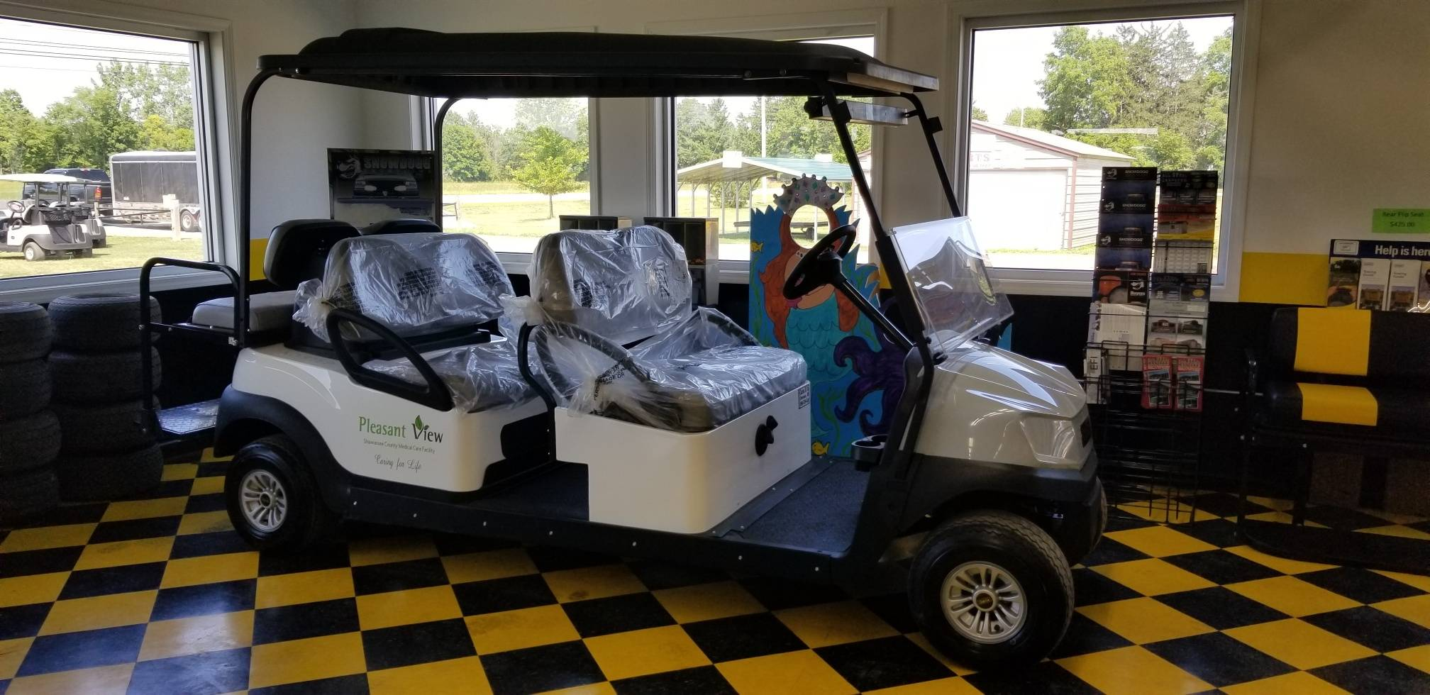 Pleasant View Cart built by us