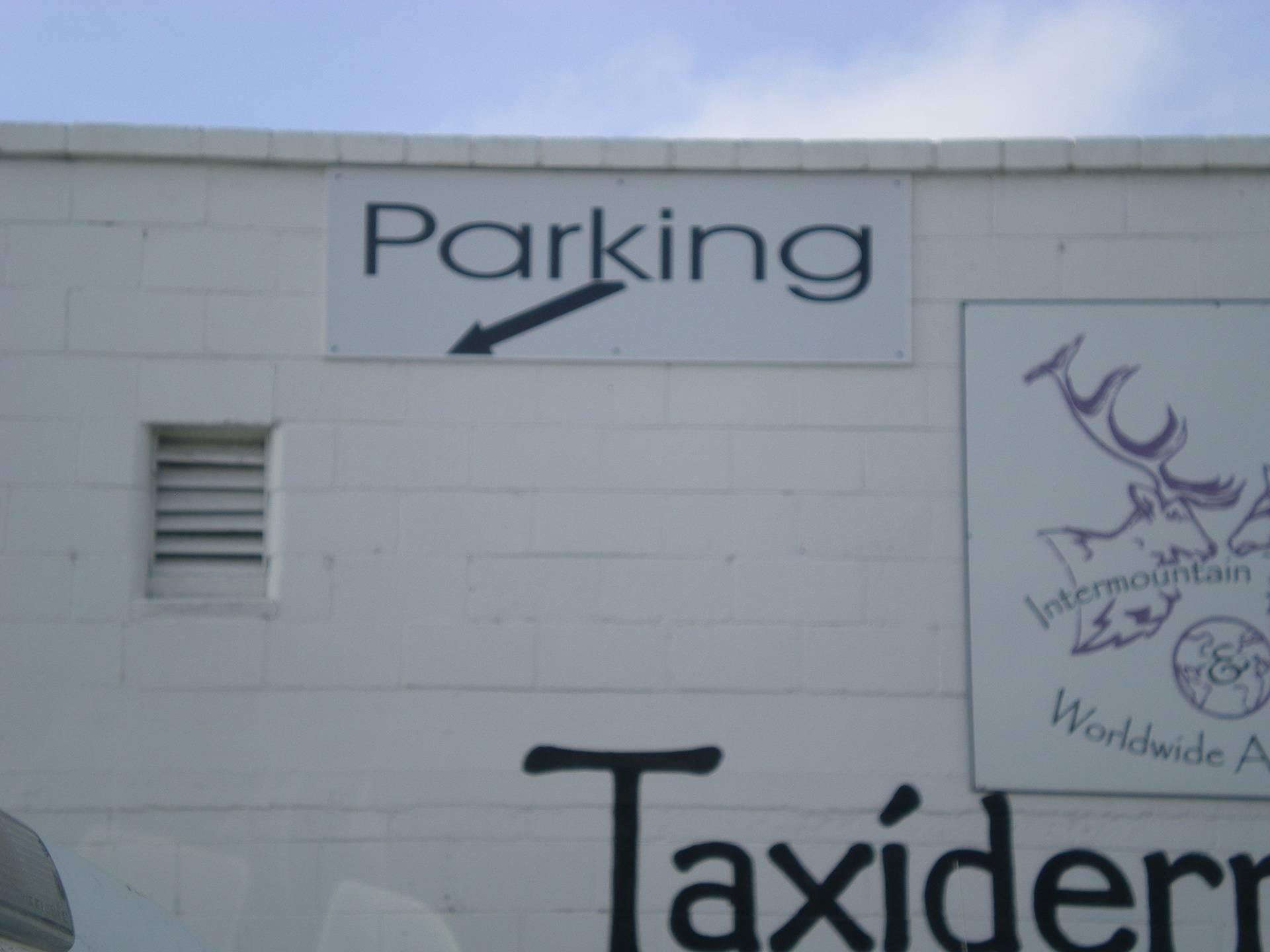 Parking Direction Sign