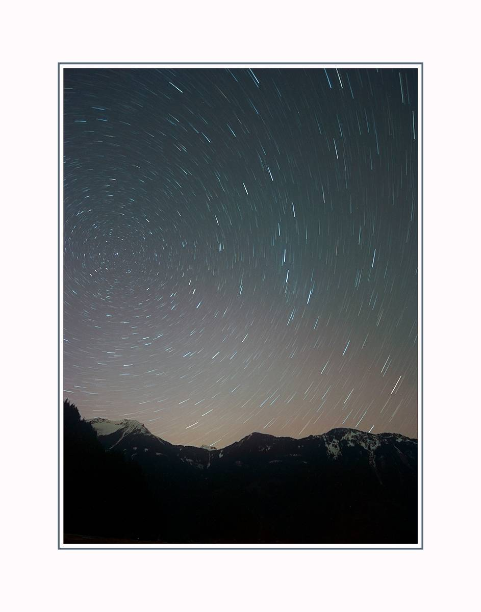 Star Trails, Harrison Lake