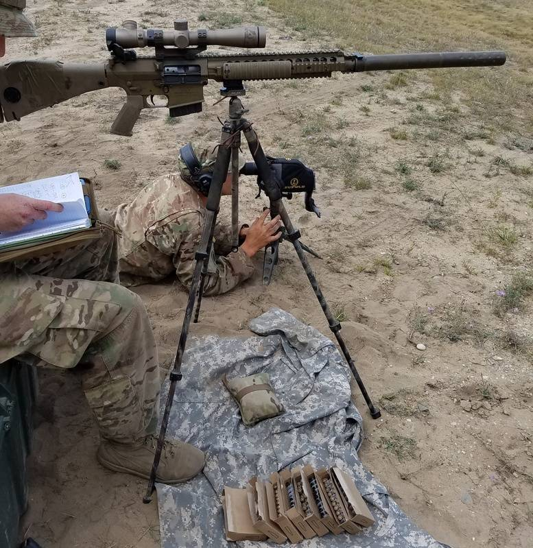 holding steady with M110 with can