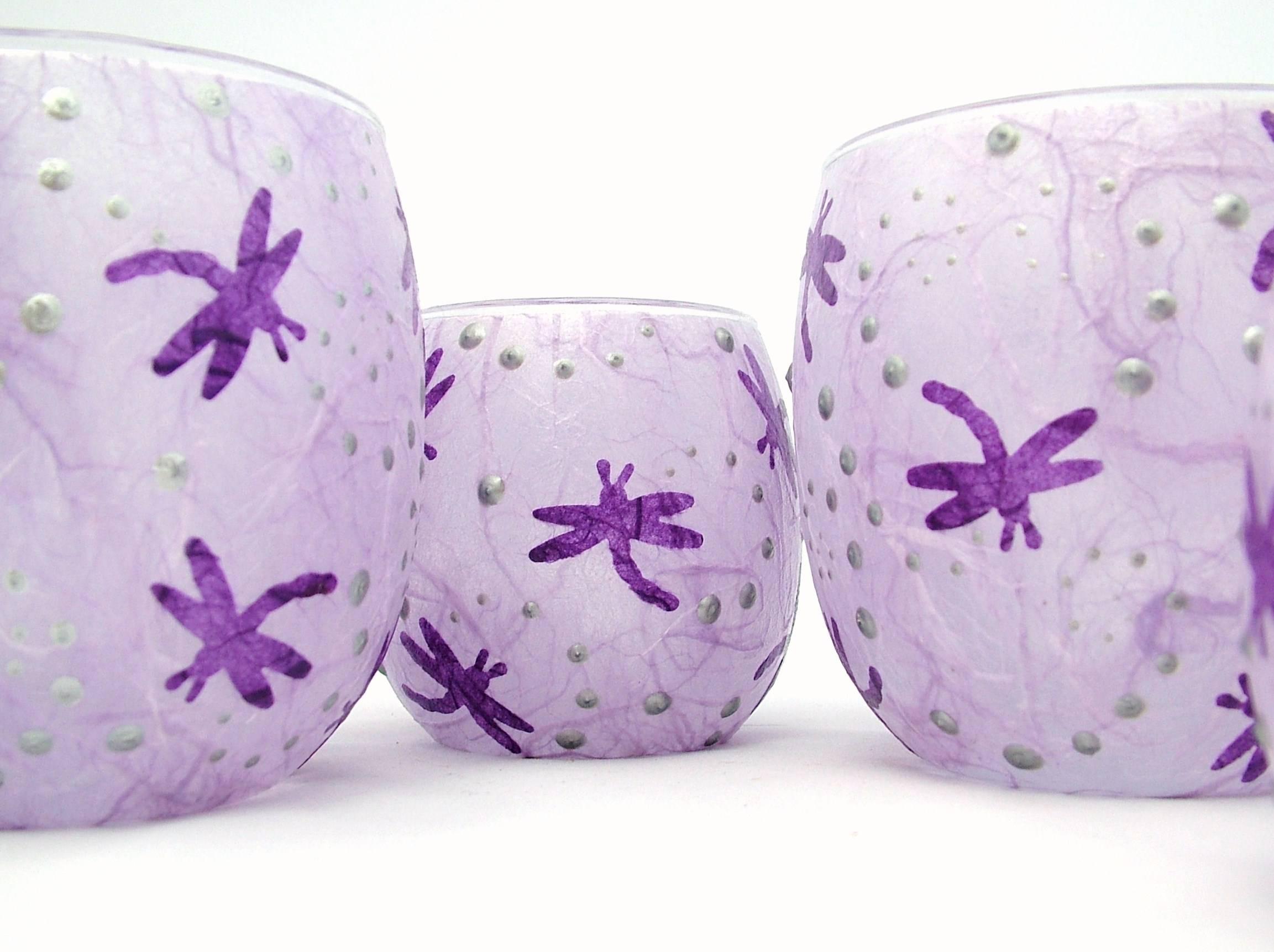 Mauve and Purple Dragonflies