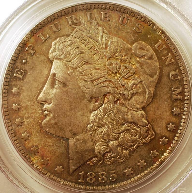 1885-O Morgan Dollar PCGS MS-63 Obverse