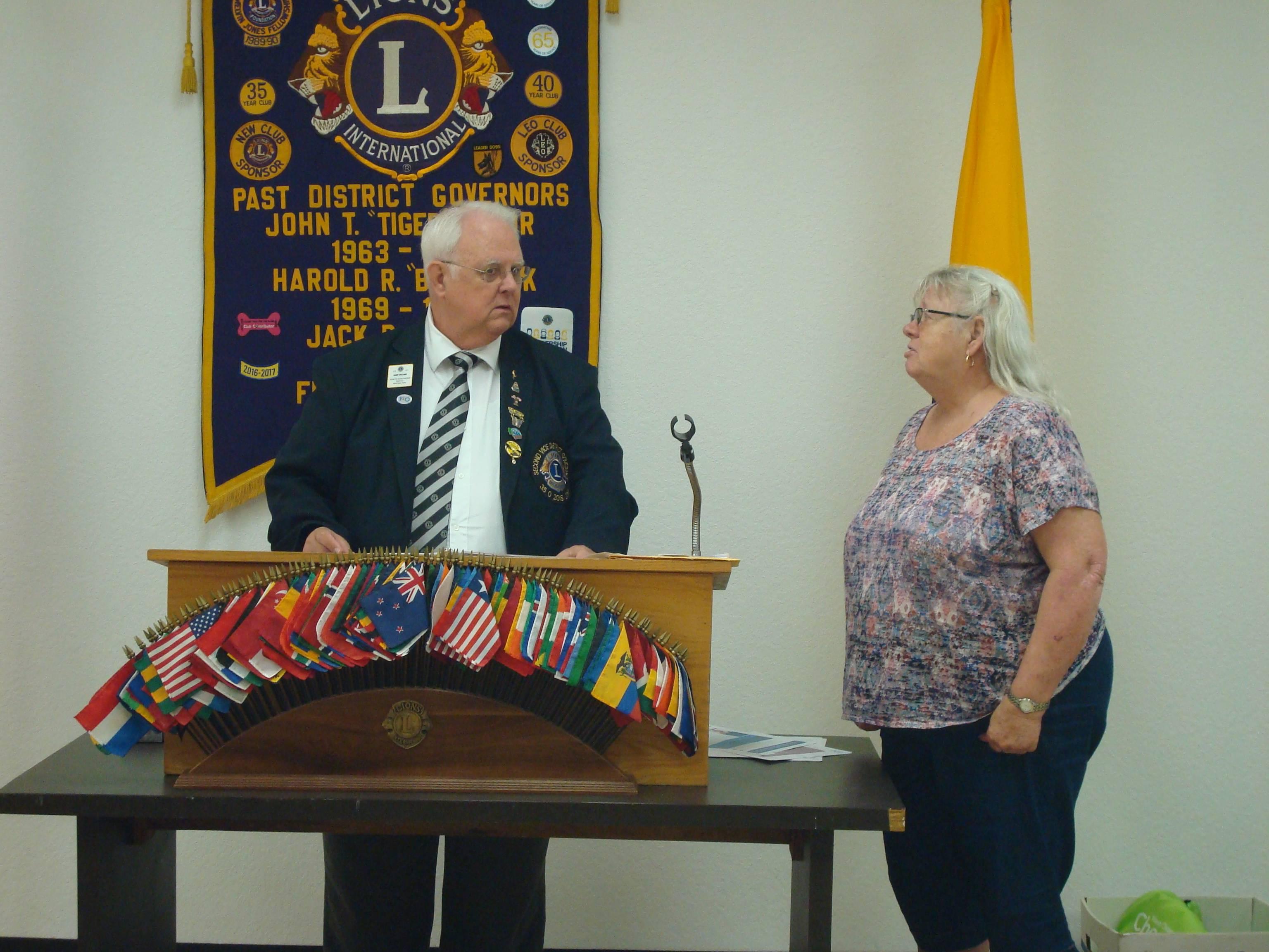 Secretary Elect Lion Linda James