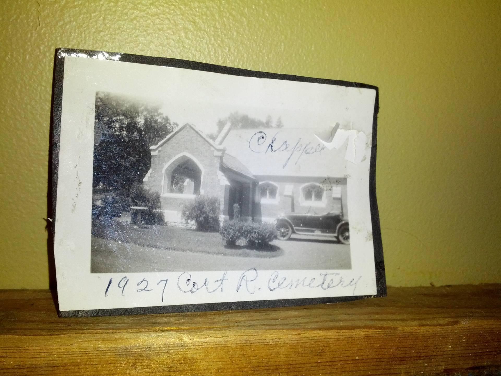Cortland Rural Cemetery Chapel -- 1937