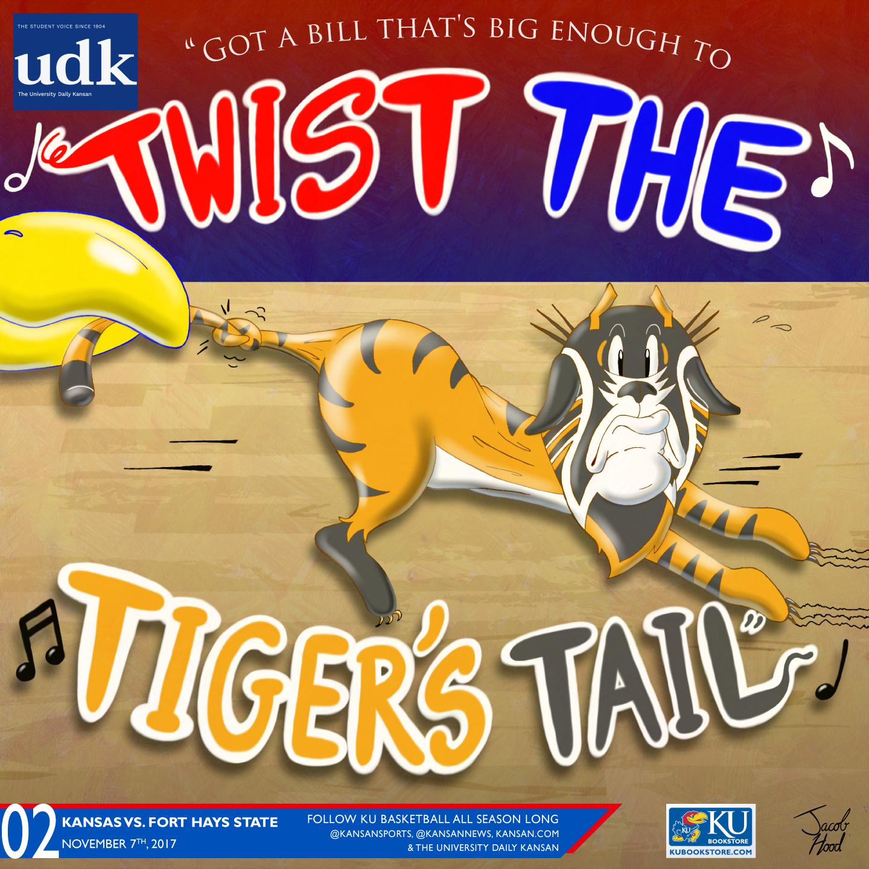 University Daily Kansan Basketball Gameday Poster - Fort Hays State 2017