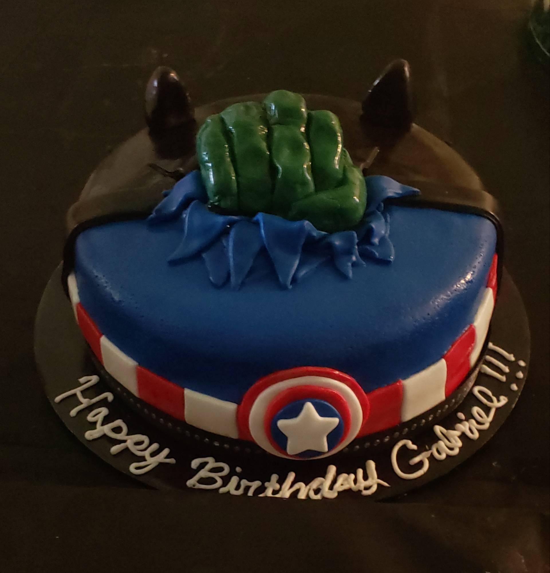Captain America, Hulk and Black Panther