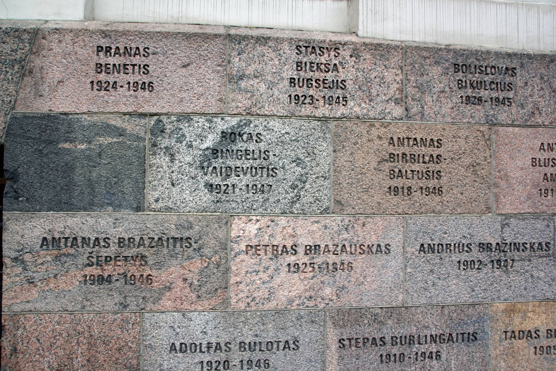 KGB Museum, Vilnius - part of memorial wall