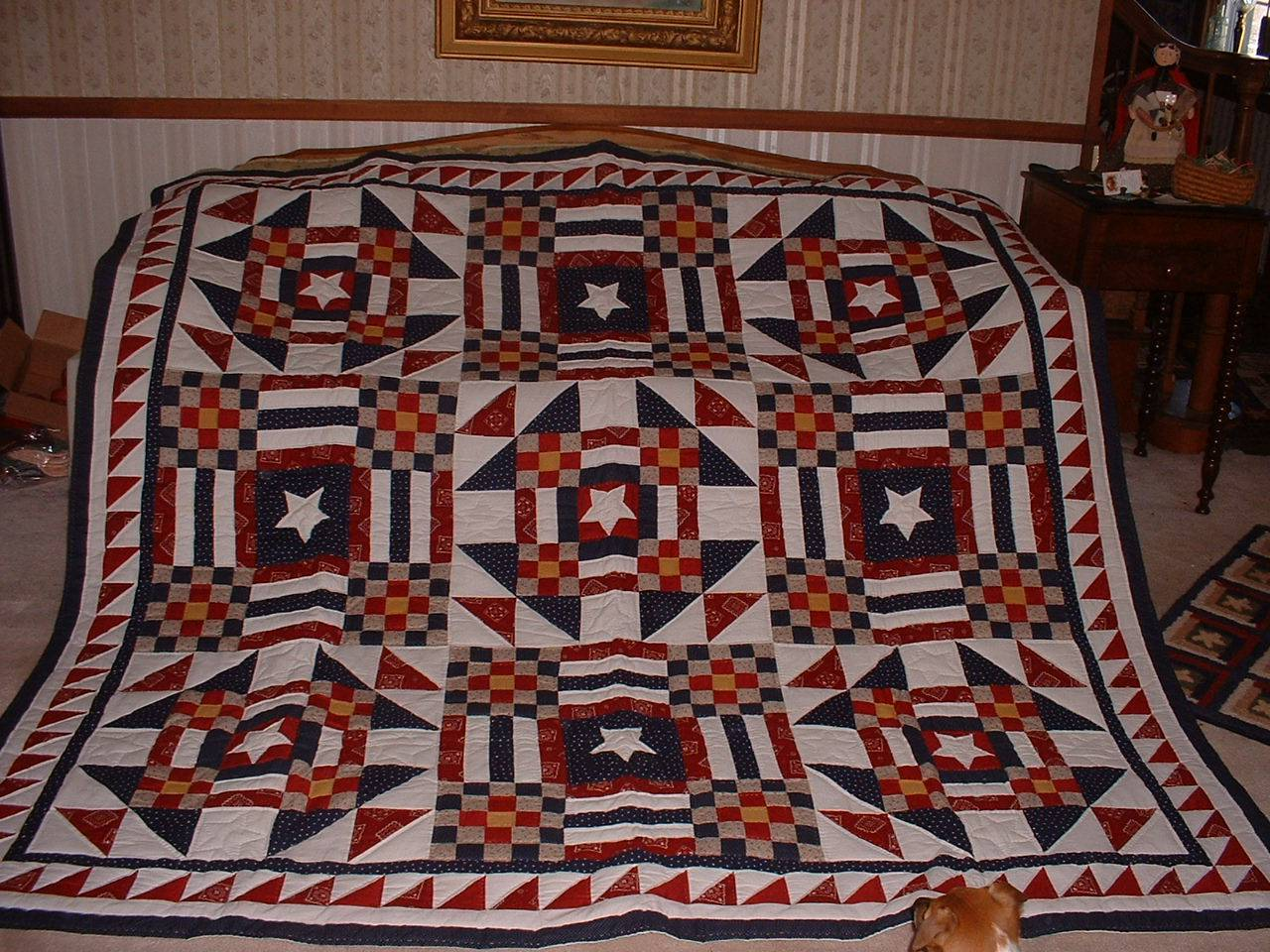 Patchwork Checkerboard Quilt