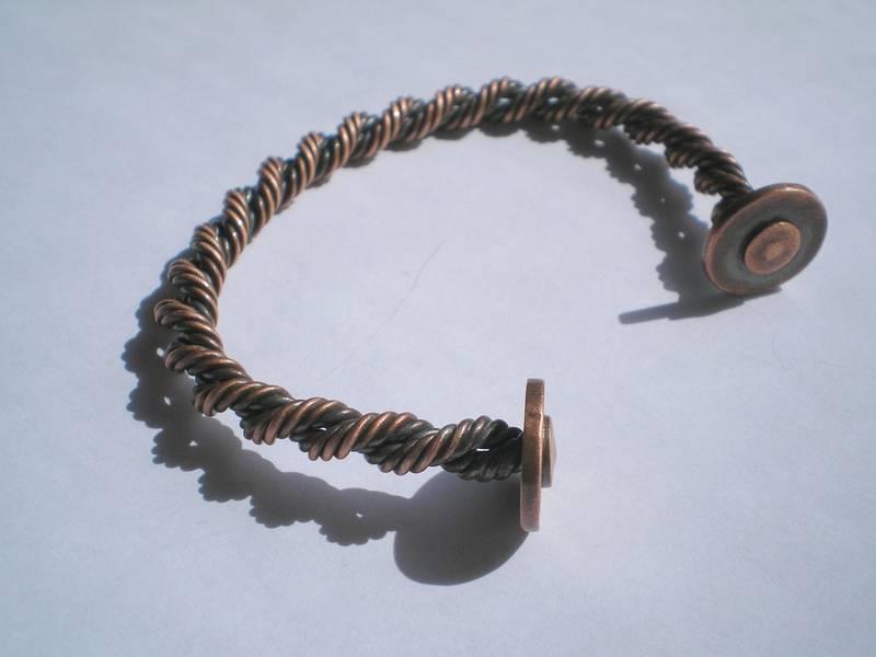 Copper torc Bracelet