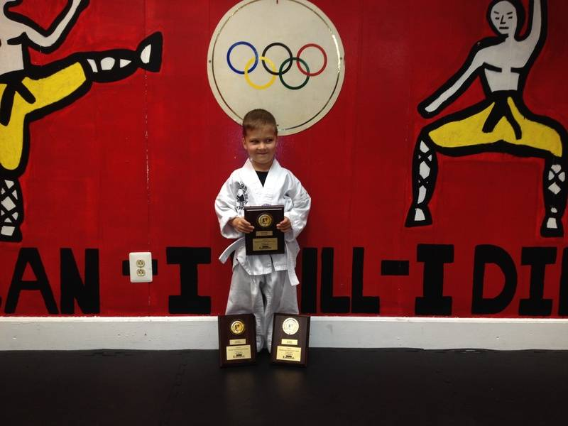 5th Open TAE KWON DO Championship Oct 6 2013 Brandon Macielinski 2nd place Forms 2nd place Breaking 2nd Fighting