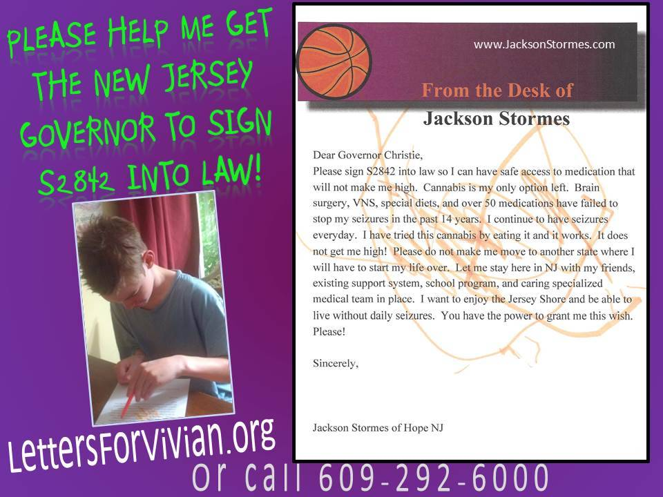 Jaxs Letter to the Governor of NJ