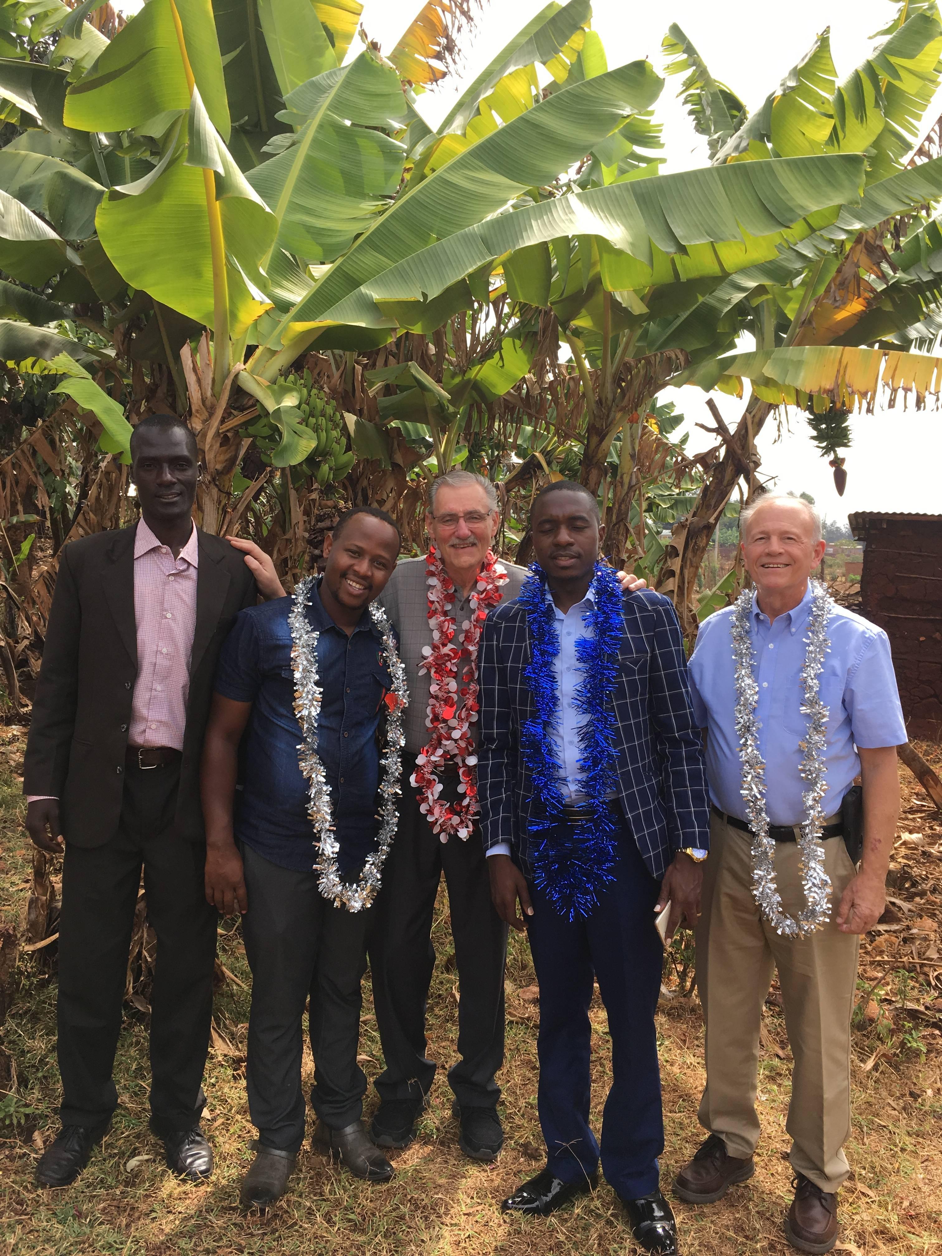 Pastor Patroba, Dennis, Linus, Pastor Obed, Kent Coates
