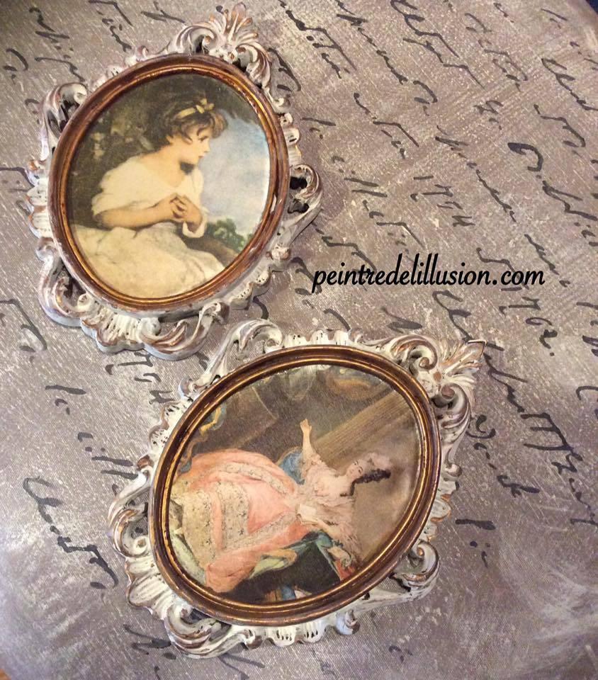 Cadre Pure White et essuyer Vendu/Sold