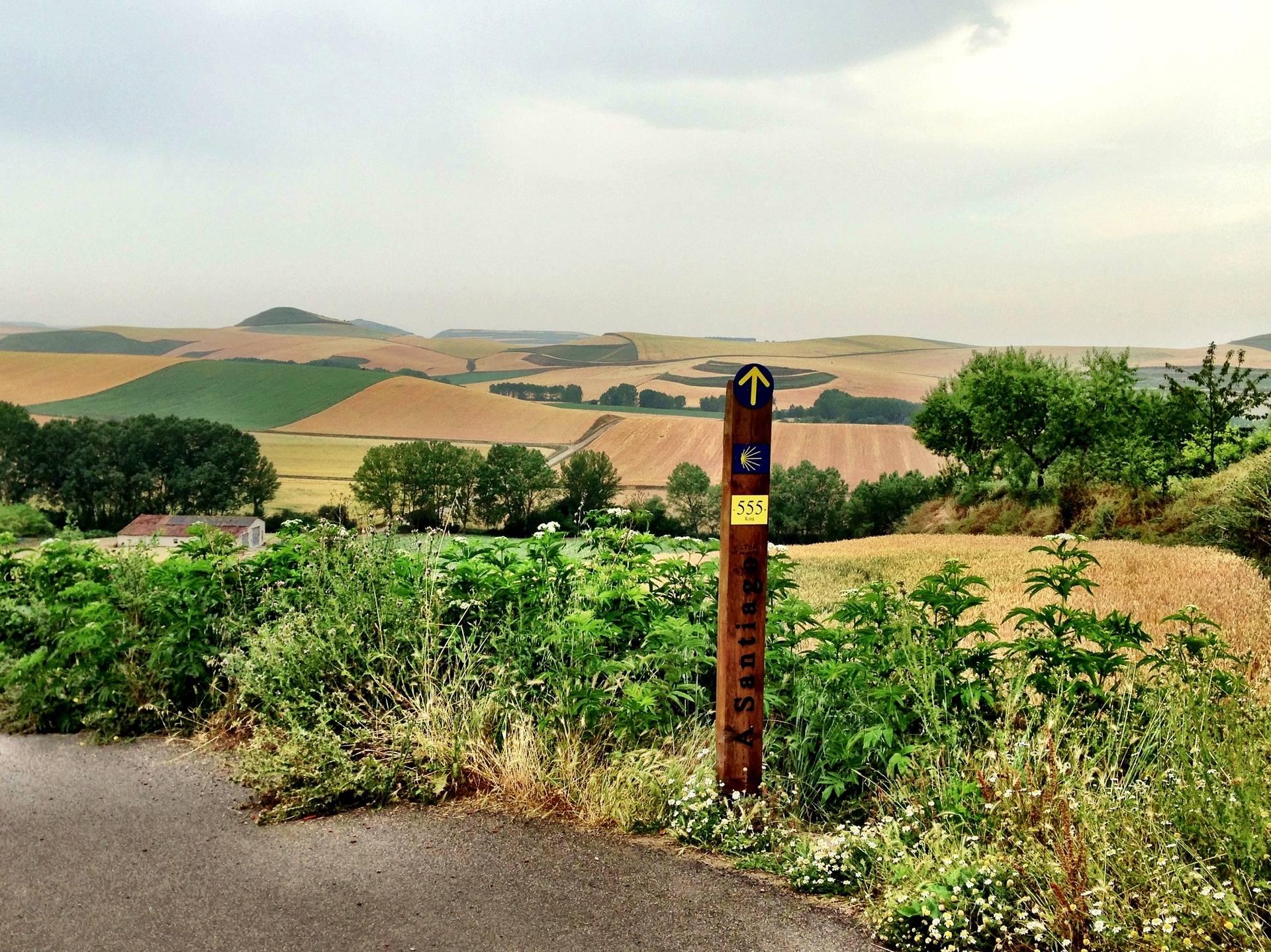 A Camino Marker