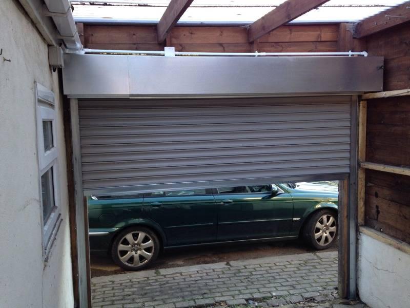Shutter used as carport door
