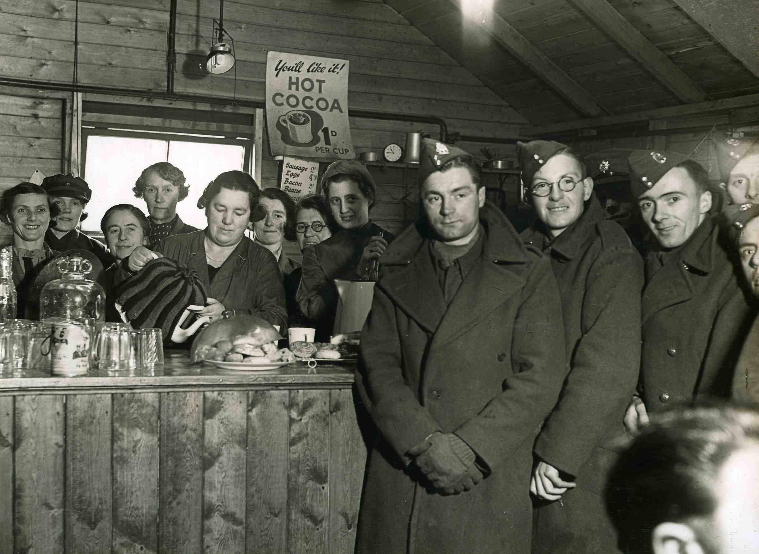 WA staff serving the troops - Barwell Camp