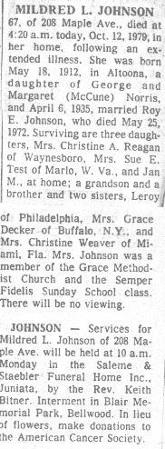 Johnson, Mildred Norris 1979