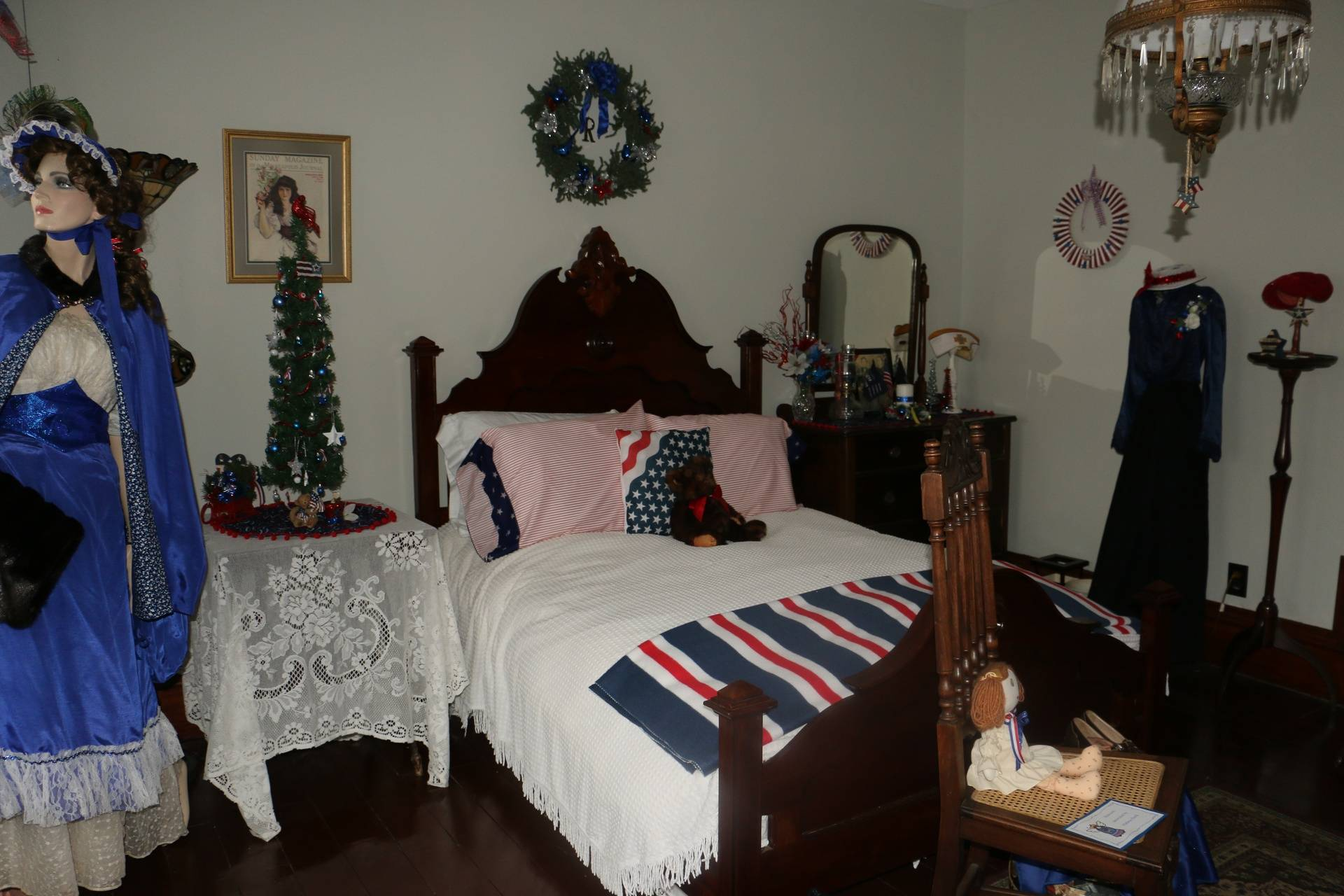 The Celebrate America bedroom