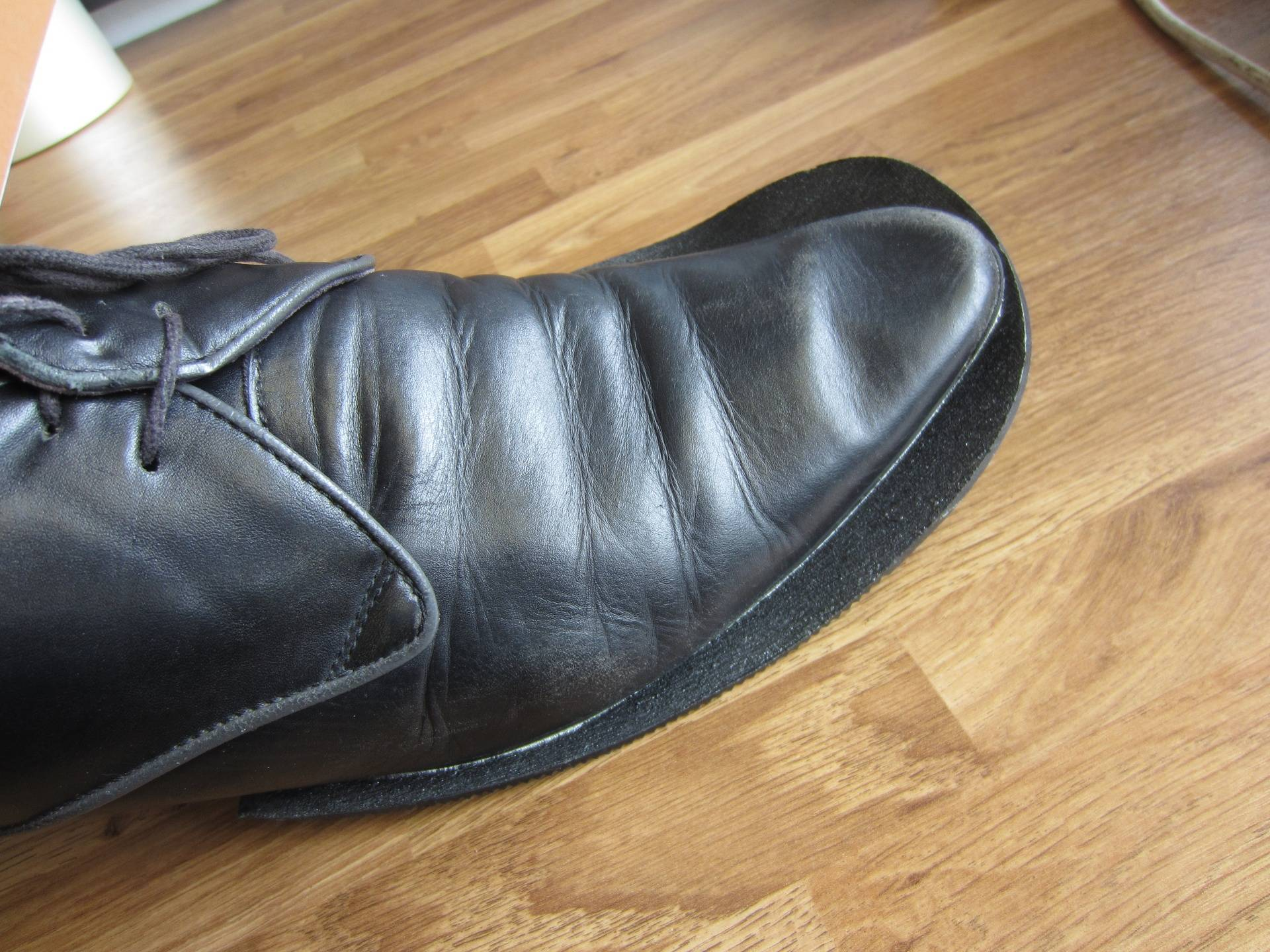 Press new soles on to shoes