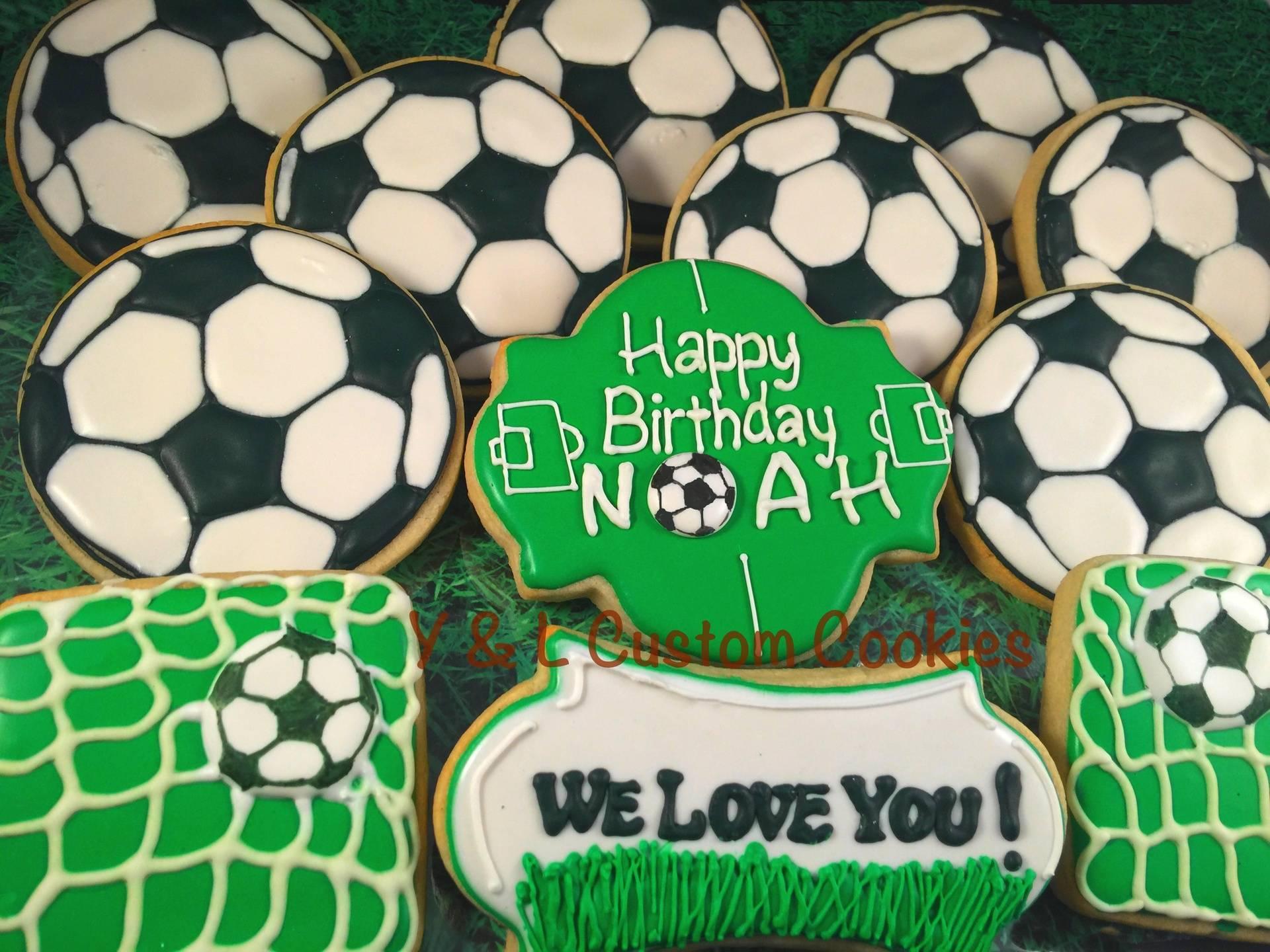 Birthday Cookies Soccer Theme