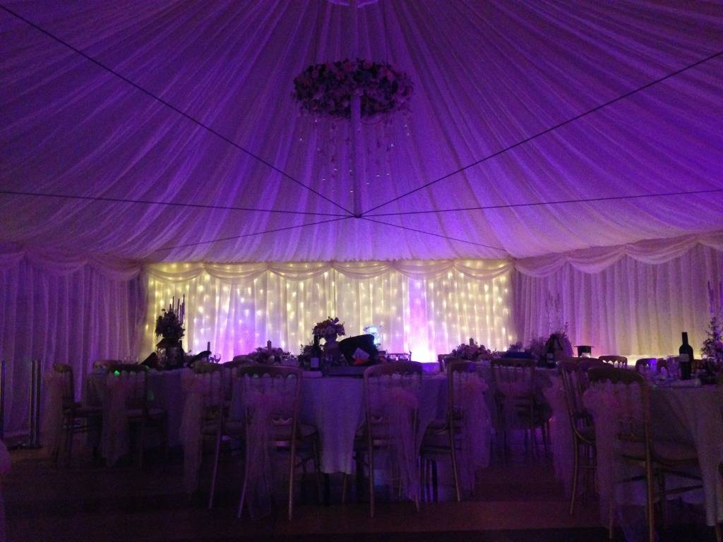 lined Hexagon marquee