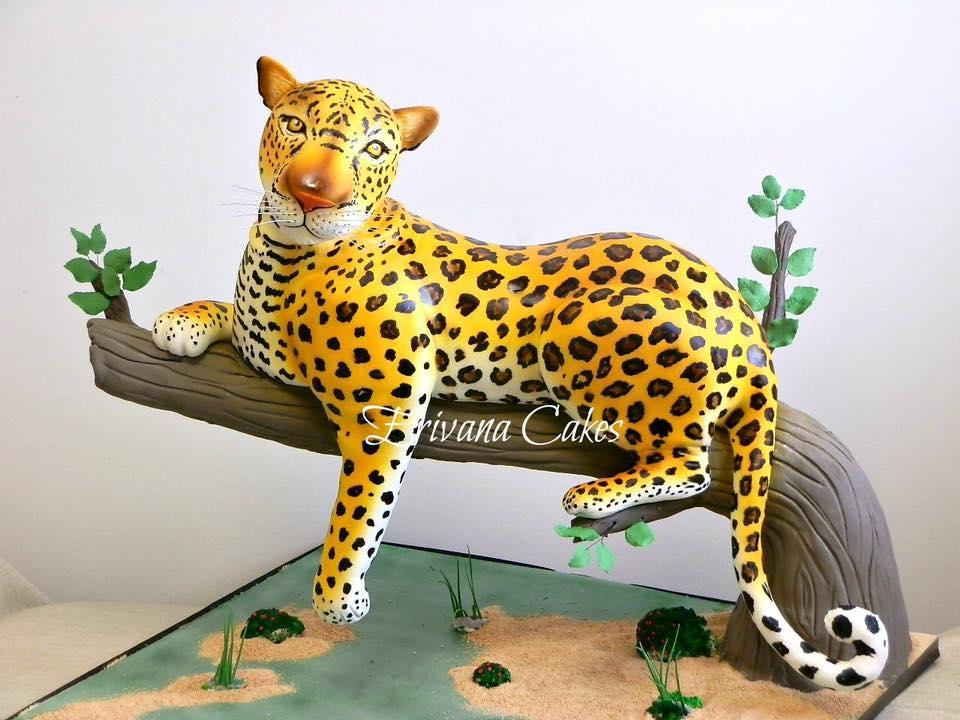 Gravity Defying Leopard Cake