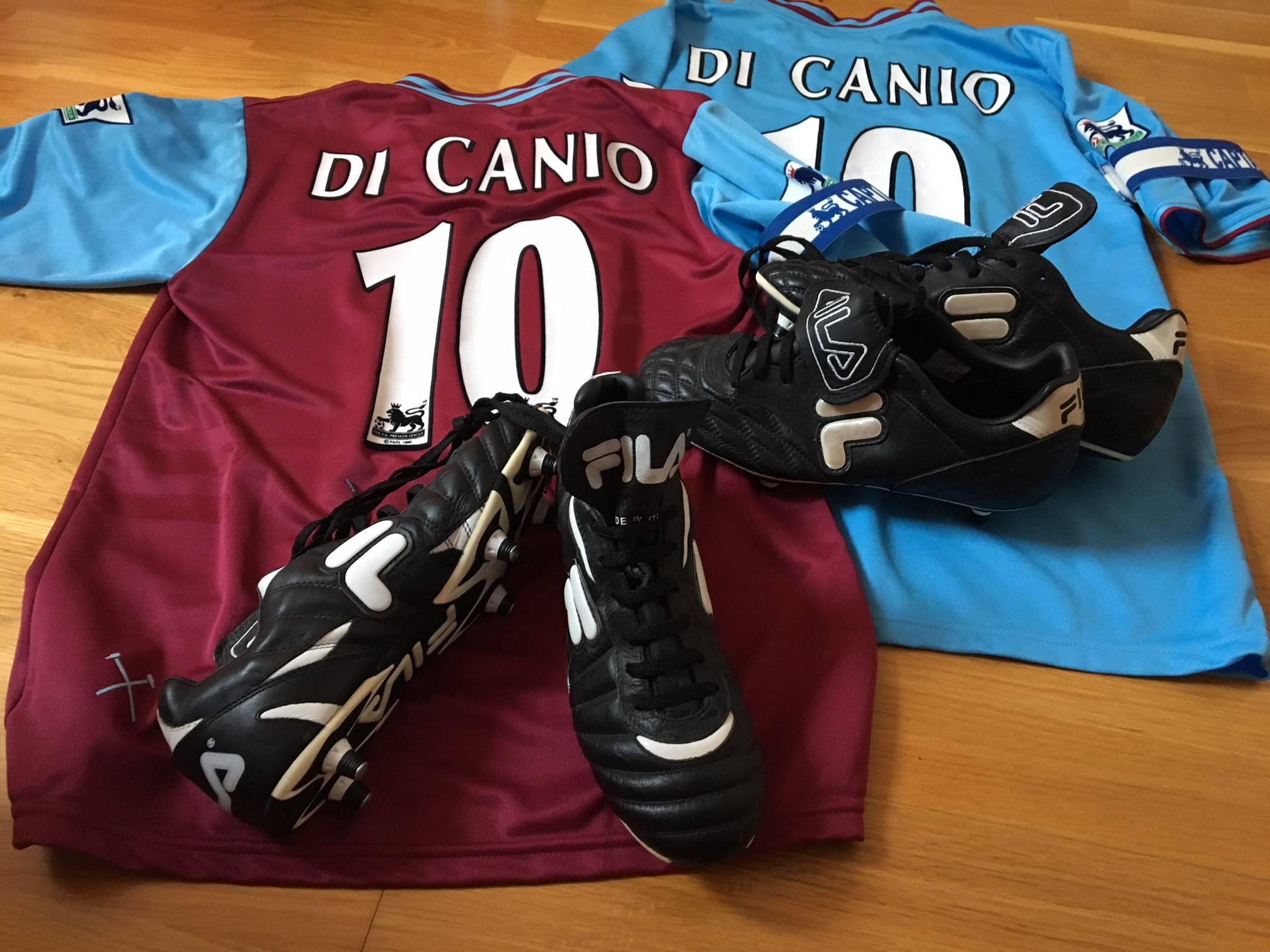 Paolo Di Canio worn 2001/03 worn shirts.