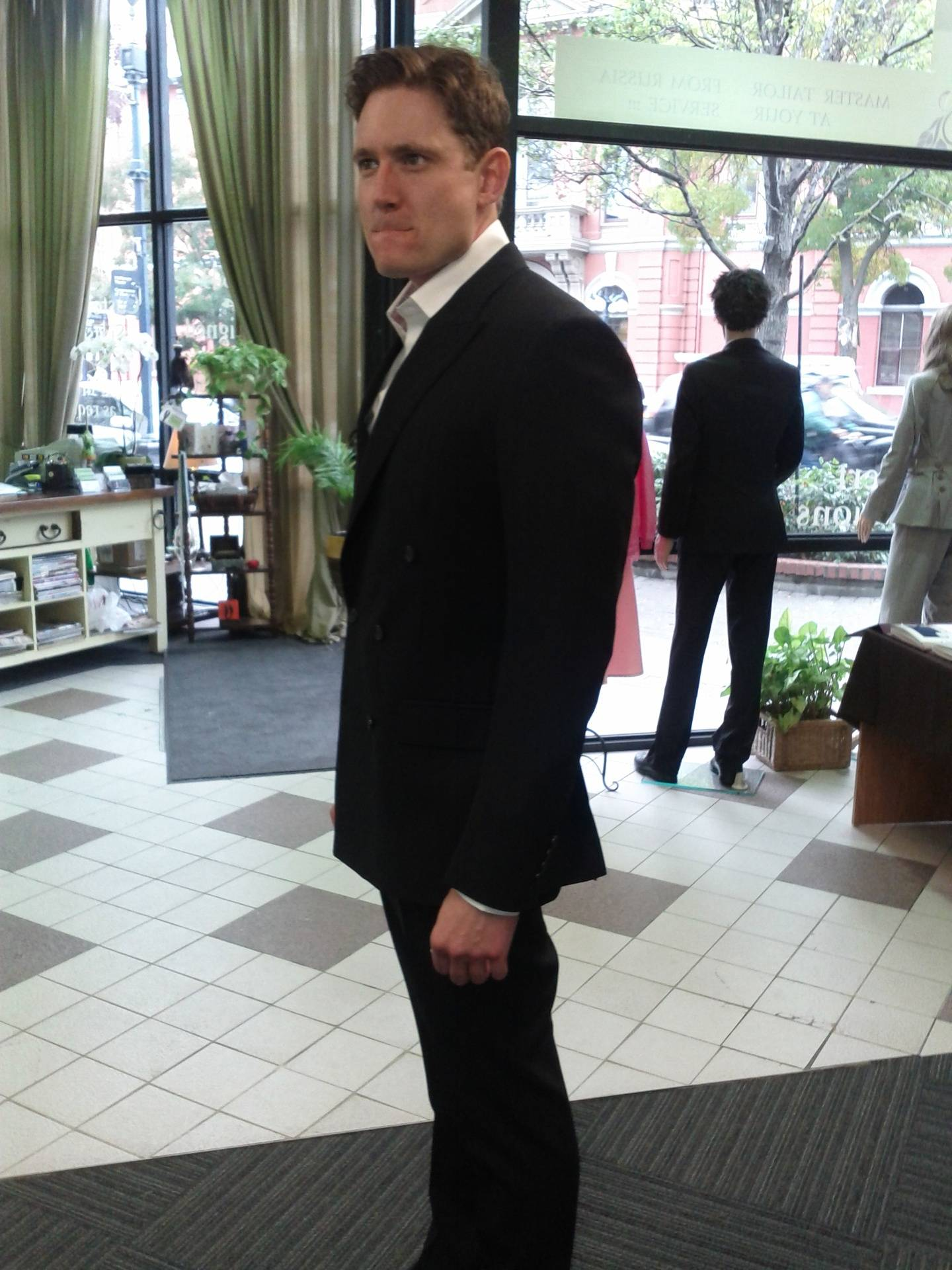 Double Breasted 2 Piece Men Suit