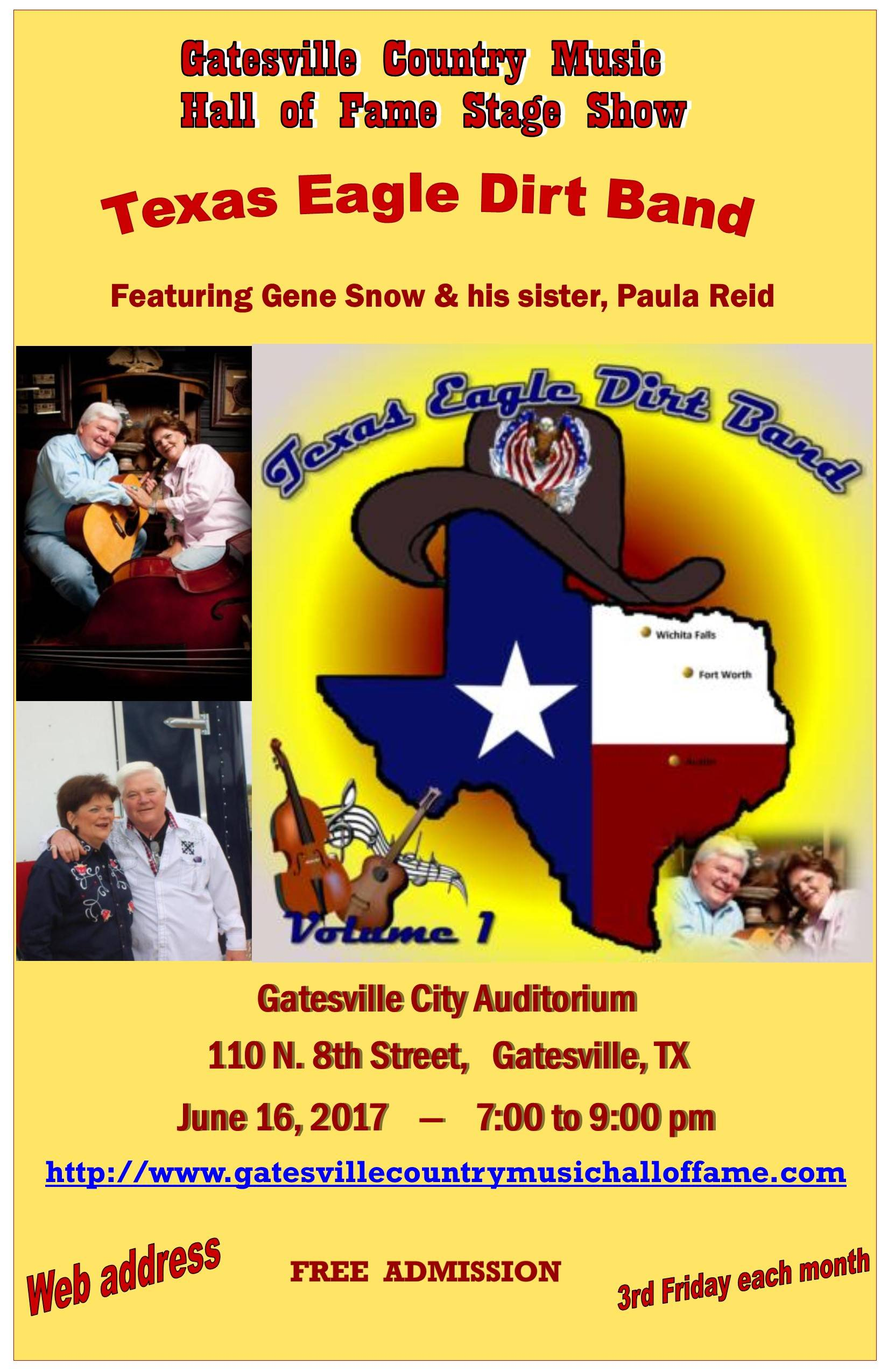 Gene Snow & Paula Reid, Texas Eagle Dirt Band