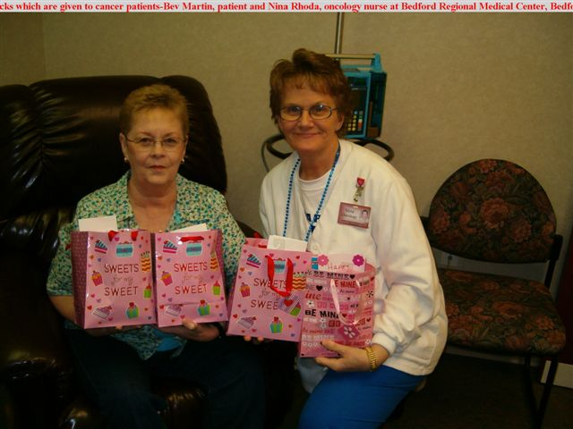 Cheer Bags for cancer patients