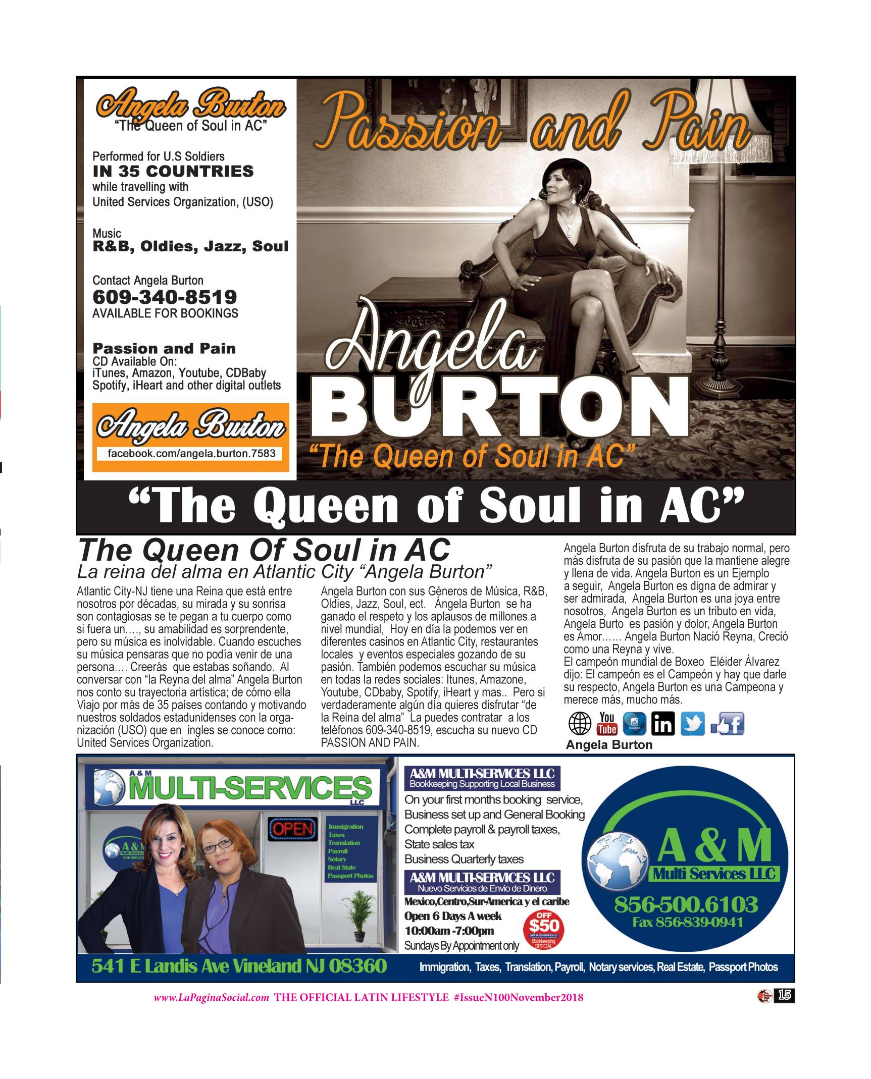 ANGELA BURTON / A&M MULTISERVICES LLC