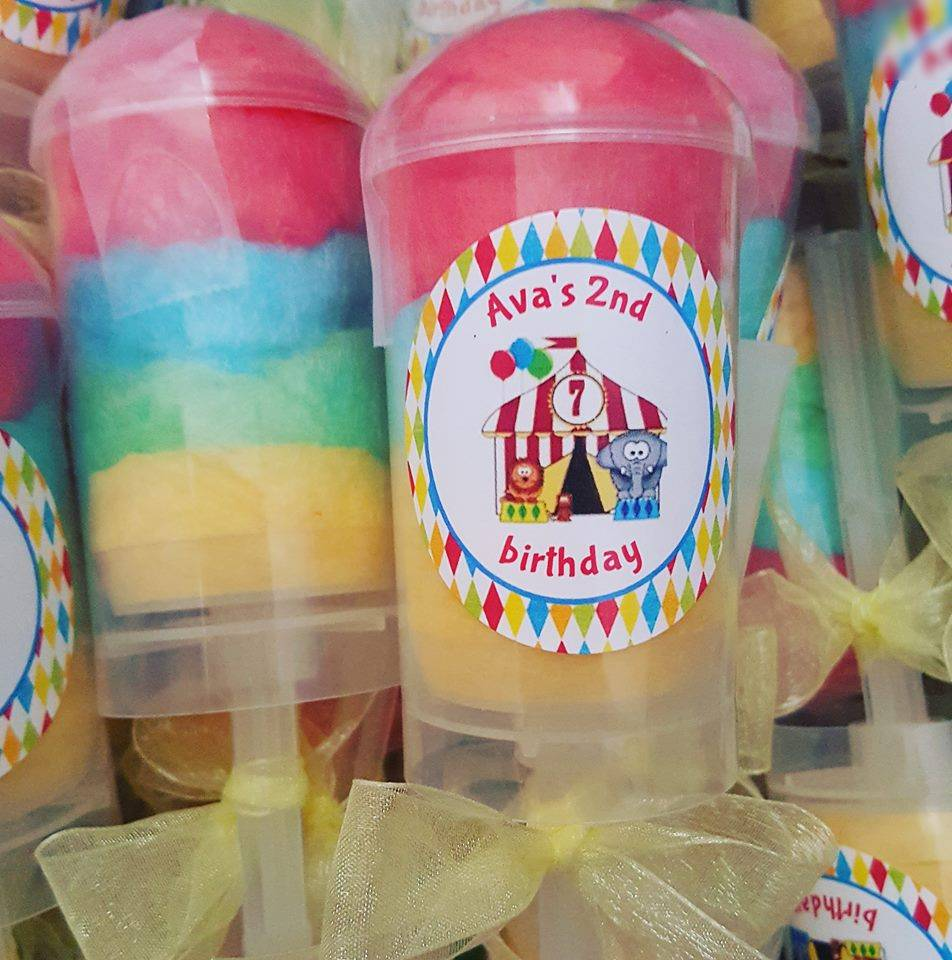 Carnival cotton candy push pops