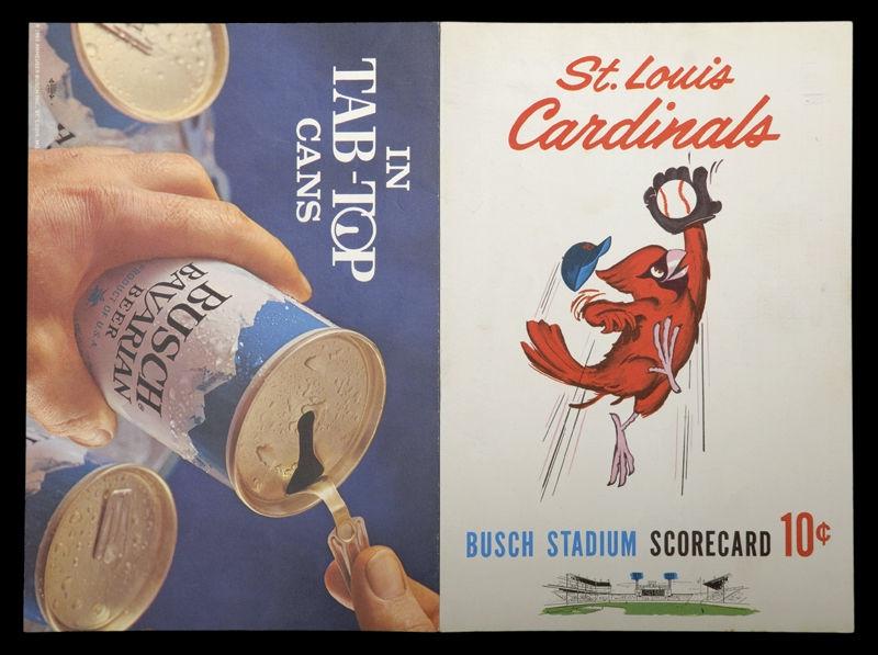 Stan Musial Last Game Scorecard - Original Unscored with Stan's Last Game- Printed On Scorecard-September 29, 1963