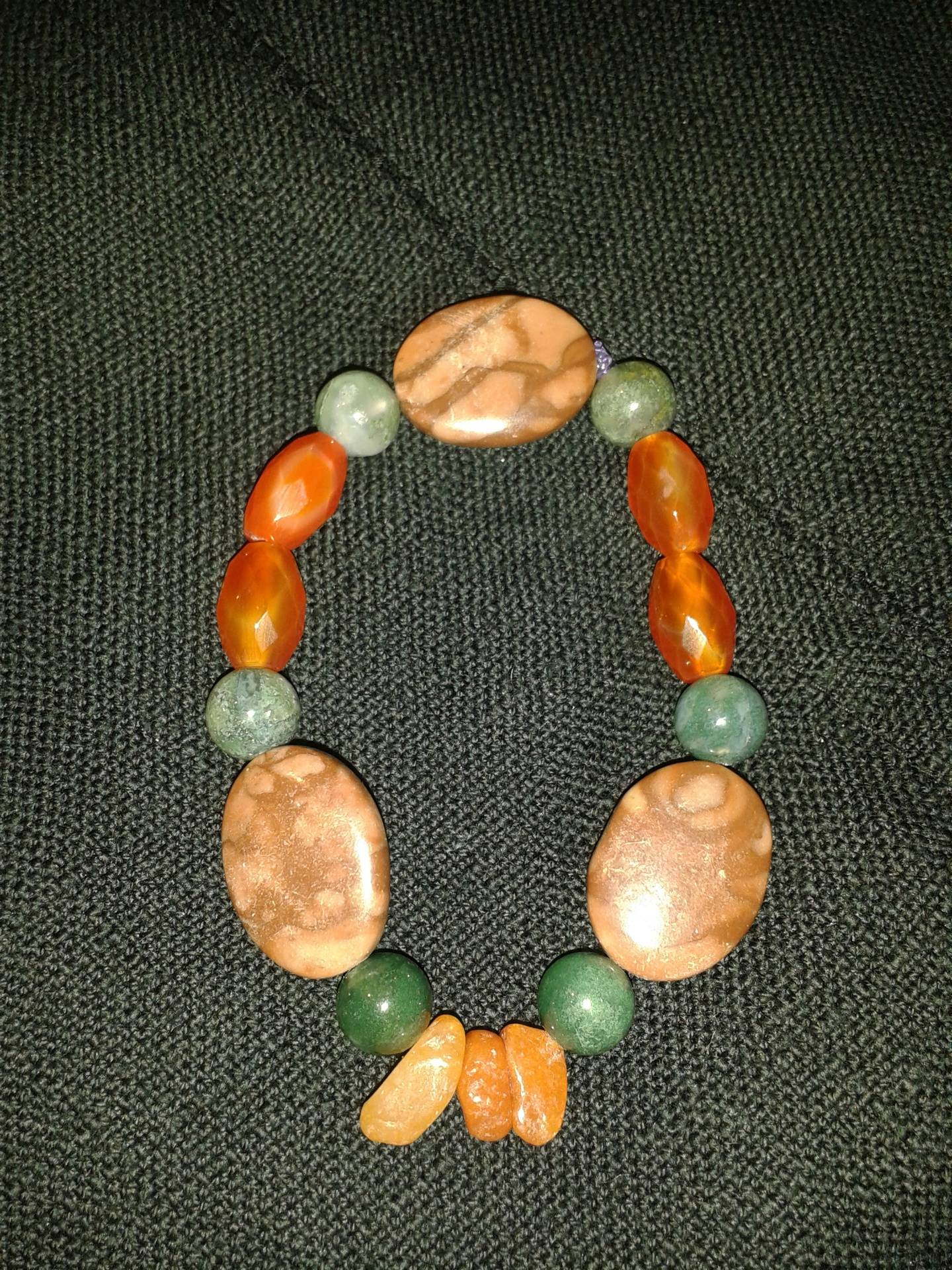 Crystal healing bracelet.