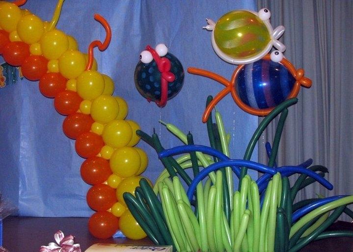 Fish Balloon & Algae Balloon Sculptures