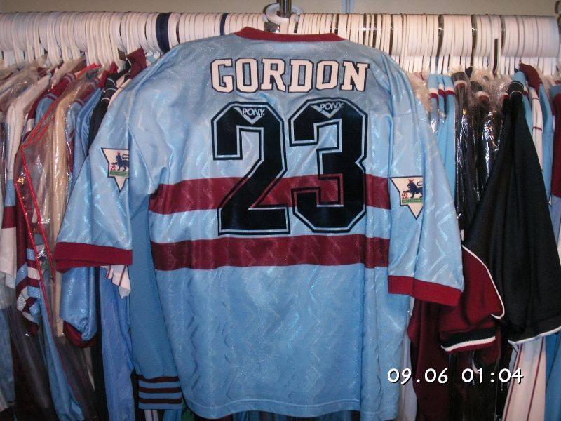 1993/94 away Dale Gordon worn shirt Pony