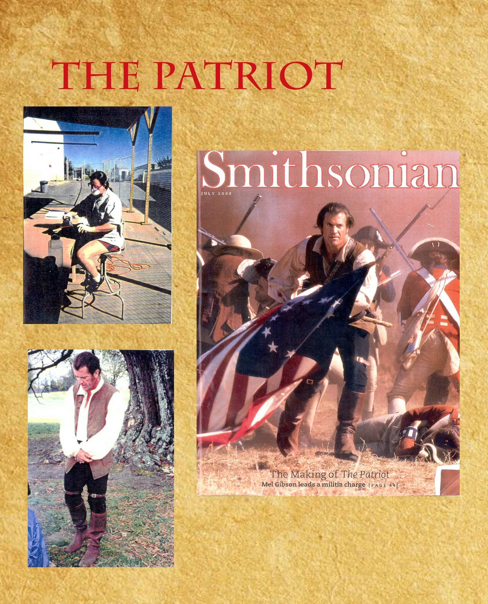 """Boot covers for Benjamin Martin (Mel Gibson), """"The Patriot"""""""
