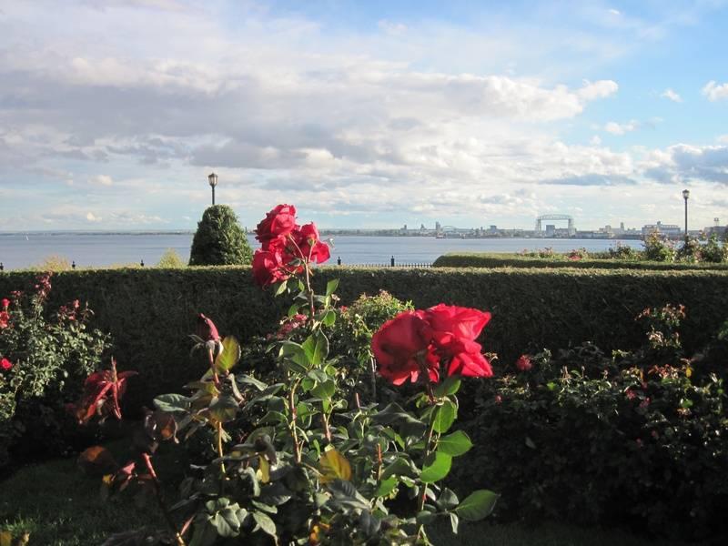 Leif Erikson Rose Garden & Lake Superior