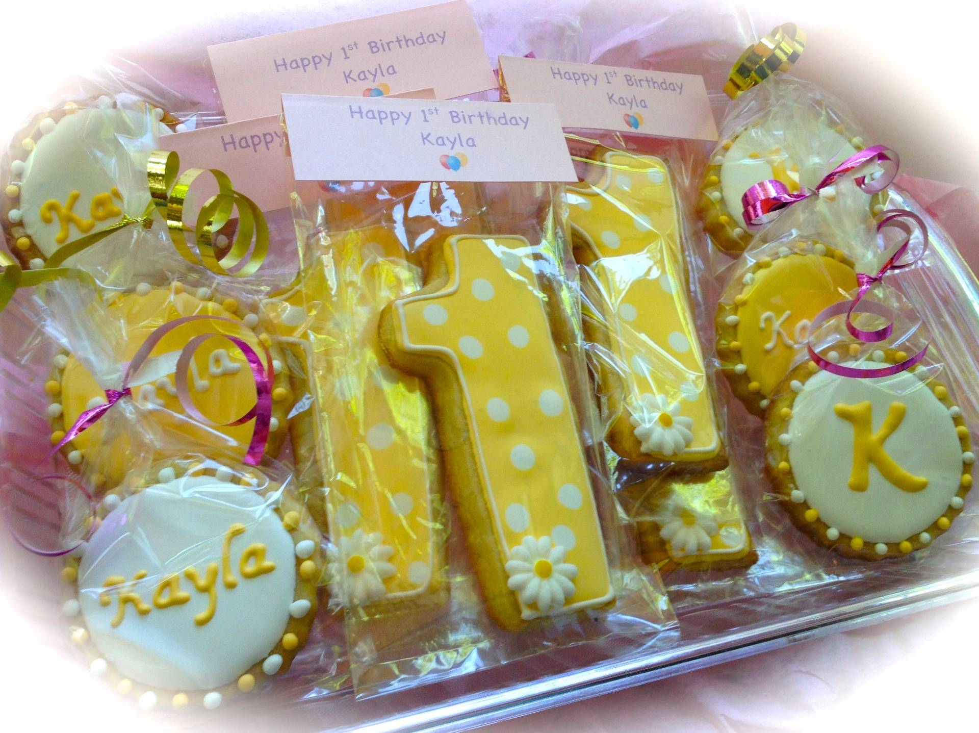 Birthday Cookie favors Platter
