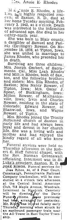 Rhodes, Annie Roswer 1942