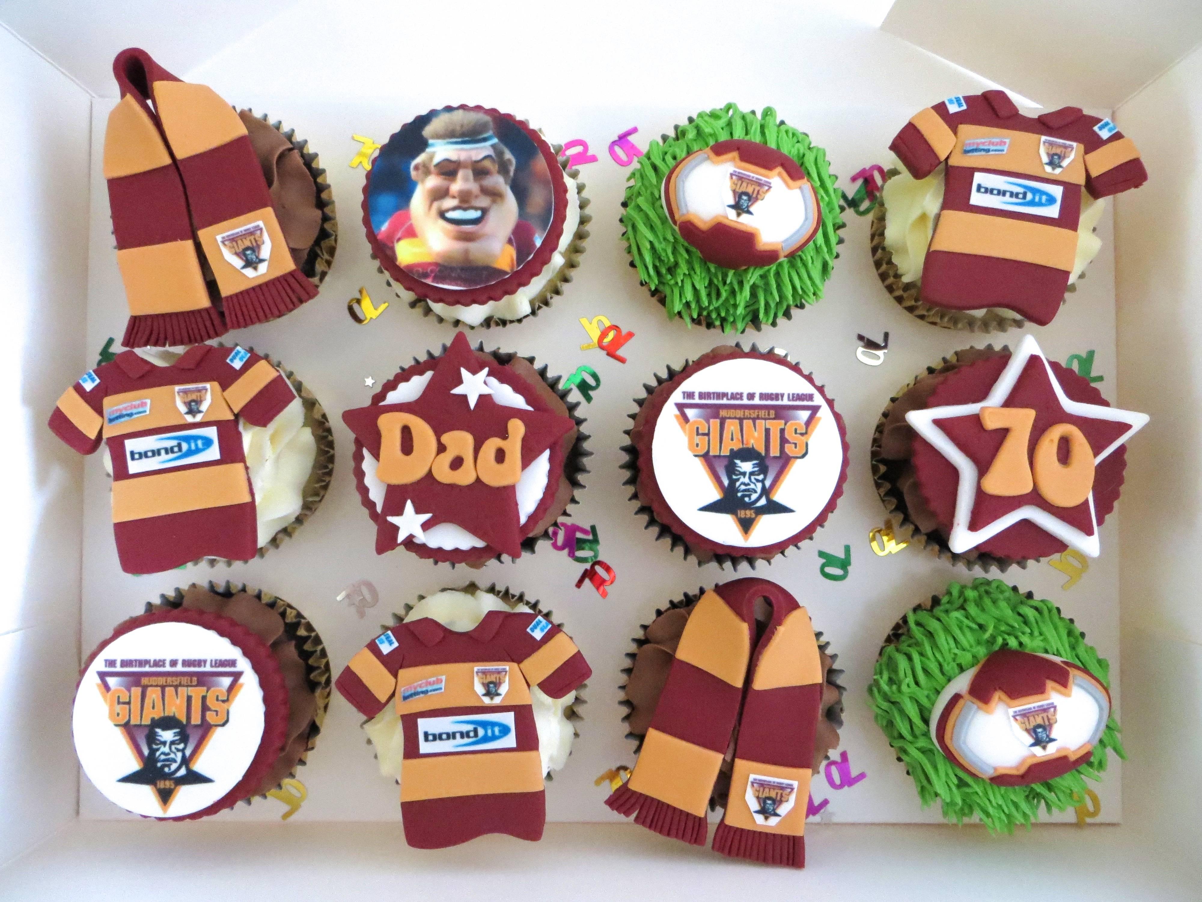 Huddersfield Giants cupcakes