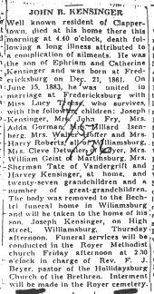 Kensinger, John R. 1936